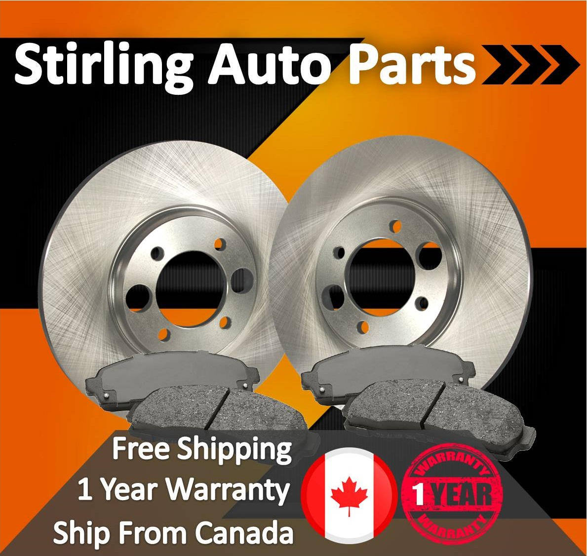 2006 For Dodge Sprinter 2500 Rear Disc Brake Rotors and Ceramic Brake Pads Stirling Note: 272mm Rotor Dia