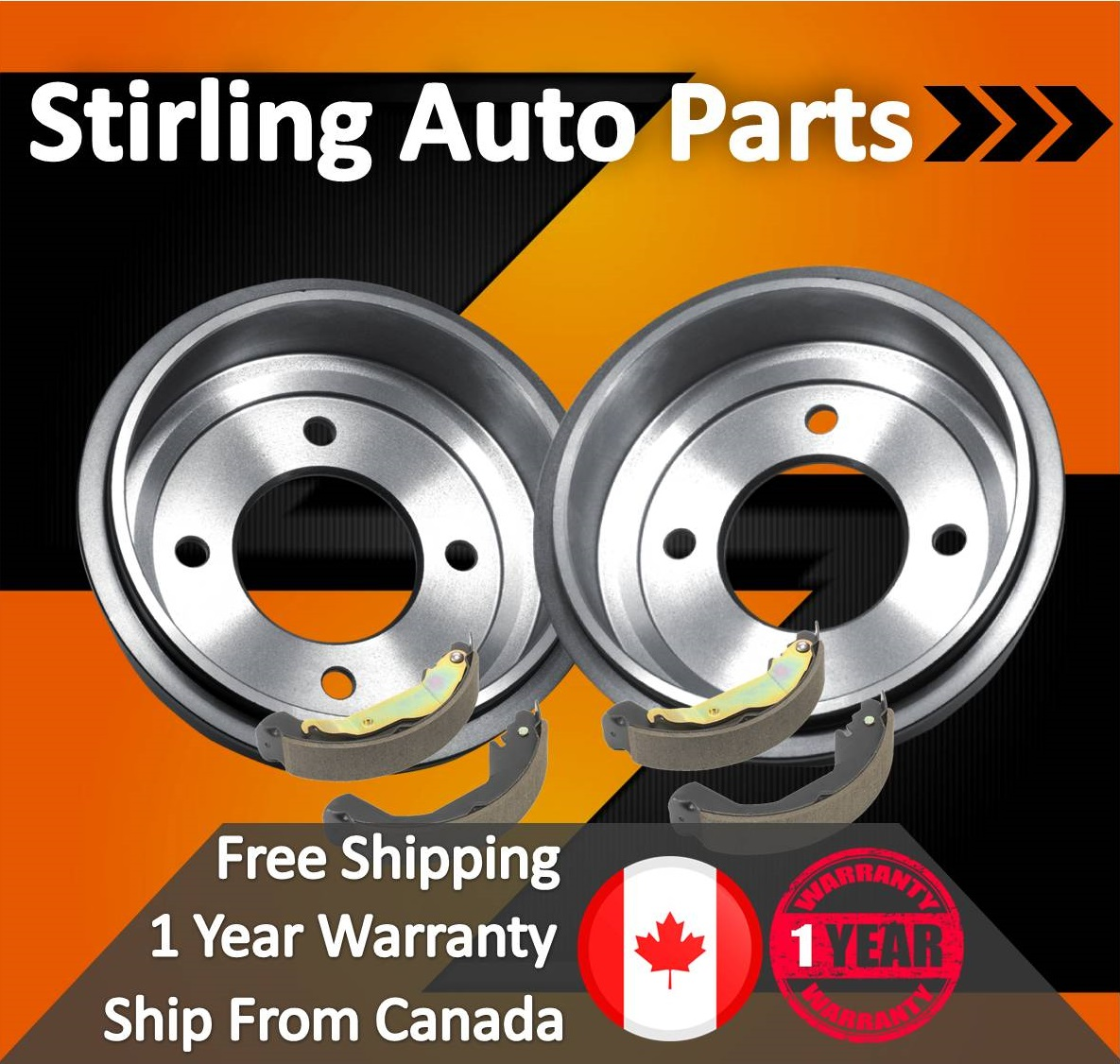 2002 for Ford E-350 Econoline Club Wagon Front /& Rear Brake Rotors and Pads SRW